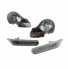 Headlights Front Lamps & Side Markers Left & Right (2 Pcs) Fits: Porsche Boxster
