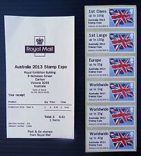GB Post & Go Flag Australia 2013 Expo Local Issue & Receipt NEW SALE PRICE
