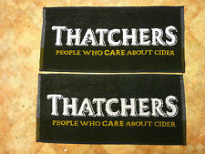 NEW THATCHERS CIDER TWO REAL ALE BEER BAR TOWELS / RUNNERS HOME BAR MANCAVE.