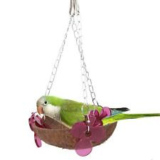 Basket Swinging Bird Toy Cages Hanging Toys Parrot Natural Cockatiel Parakeet