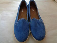 Clarks Collection Soft Cushion Blue Slip On Shoes Women's Size 11 Medium