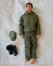 "Vintage Hasbro GI Joe 12"" 1/6 Adventure Team Man of Action Brown Flocked Hair"