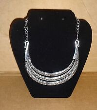 NEW Silver Antique Vintage Silver Choker necklace Costume Jewelry Steampunk