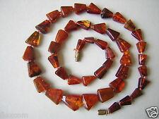 Antike Cognac Natur Bernstein Kette Collier Deiecke Genuine Amber 15,8 g/51,5 cm