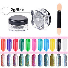 Holographic Laser Powder Nail Glitter Rainbow Chrome Pigments Hologram Effect 2g
