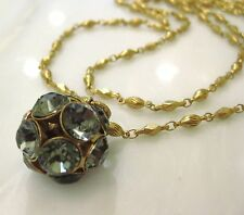 NWT La Vie Parisienne Catherine Popesco Gold Crystal Ball Pendant Necklace 1477G