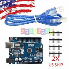 2X UNO R3 ATmega328P CH340 USB Board for Compatible Arduino DIY