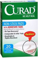 Curad Non-Stick Pads With Adhesive Tabs 2 Inches X 3 Inches 20 Each