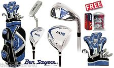 Ben Sayers M15 Full Golf Club Complete Set Cart Bag Mens New Steel Clubs Irons