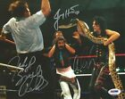 Alice Cooper Jake the Snake Roberts Jimmy Hart Signed WWE 8x10 Photo PSA/DNA COA