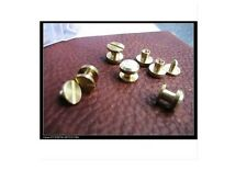 10x Solid Brass Screw Copper buckle Nail Rivets For Luggage Leather Craft Strap