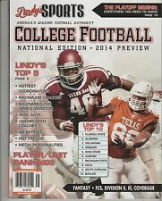 LINDY'S SPORTS COLLEGE FOOTBALL NATIONAL EDITION 2014 PREVIEW, LINDY'S TOP 10.