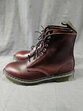 DR. MARTENS MENS PASCAL BOOT CHERRY RED SIZE 10 NEW