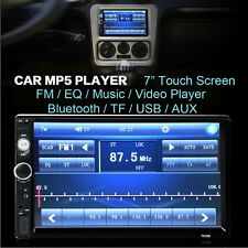 Car 2 DIN 7'' Bluetooth Touch Screen Stereo Radio FM MP5 MP3 USB AUX TF Player