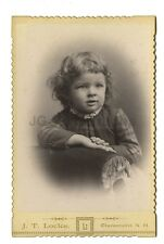 19th Century Children - 1800s Cabinet Card Photo - J.T. Locke of Claremont, NH