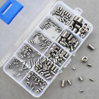 200pcs Stainless Steel Allen Head Socket Hex Set Grub Screw Assortment Cup Point