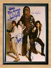 STAR WARS Han Solo Luke Skywalker Cast Signed Autographed A4 Photo Print Poster