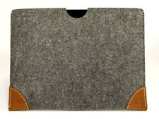 iPad MINI 1, 2, 3 felt with leather CORNERS sleeve case, UK MADE, PERFECT FIT!