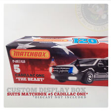 CUSTOM FICTICIOUS 120 BOX | Suits MATCHBOX CADILLAC ONE - NO 5. | BOX ONLY