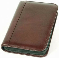 Aston Leather Velvet Lined 10 Pen Case - Brown