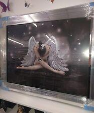 Bnwt swarovski crystal glitter liquid art wall picture mirror  angel 96x76cm