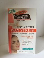 PALMER'S COCOA BUTTER FORMULA WAX STRIPS SENSITIVE SKIN FACE EYEBROWS BIKINI