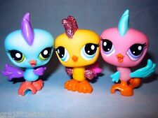Littlest Pet Shop lot #2317, 2318, & 2319 Sparkle Rooster Baby Bird Triplets