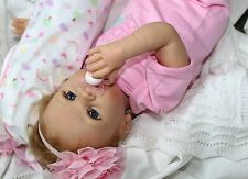 SWEETHEART LOVE! Lifelike Moving 22 Inch Pacifier Baby Girl Doll + 2 Outfits