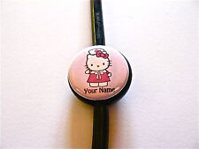 ID STETHOSCOPE name tag, Nurse Hello Kitty n hot pink. Personalized w/your name