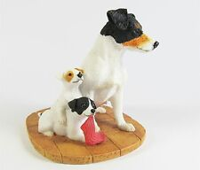 Jack Russell - Tri Colour Mother & Pups Dog Figurine - Border Fine Arts