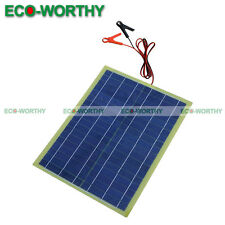 20Watt Epoxy Solar Panel W/2m Cable &30A Clip for 12V Camping Battery Charger