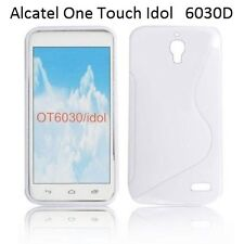 TPU gel silicone case cover S-line white for Alcatel One Touch Idol OT-6030D