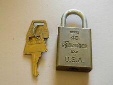American Re-keyable Padlock- 40 Series- Brass Body- 2 Keys - Vintage