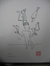 MAGIC BIRDS 1964 JOHN LENNON SERIGRAPH YOKO ONO SIGNED 92/300 BAG ONE ARTS COA