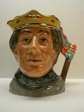 """Royal Doulton Toby Mug; 1982 """"The Shakespearean Collection"""" Henry V; Excellent"""