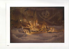 WALT DISNEY PIRATES OF THE CARIBBEAN PIRATE SHIP ON THE SEAS COLOR PRINT BY NOAH