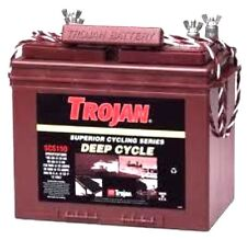 BATTERY 12V 100AH FLOODED CELLS TROJAN MARINE RV DEEP CYCLE SCS150 DUAL TERMINAL