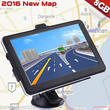 "7"" Truck Vehicle Car Portable GPS Navigation Navigator SAT NAV 8GB US Canada Map"