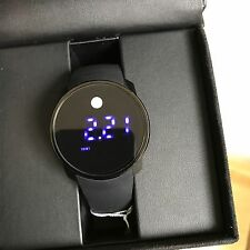 NWT MOVADO Men's Bold Touch Screen Digital Dual Time Black Silicone  3600144