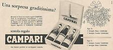 W1730 Scatola regalo Campari - Pubblicità del 1958 - Vintage advertising