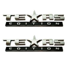 (TWO) 3D TEXAS EDITION EMBLEM CHEVY SILVERADO GMC SIERRA TRUCK UNIVERSAL DECAL