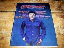 1973 CRAWDADDY magazine MUHAMMAD ALI w/ DOUG SAHM mike bloomfield DYLAN rev. ike
