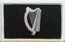 IRISH Flag Military Patch With VELCRO® BRAND Fastener B & W IRISH #8