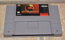 Mortal Kombat I Super Nintendo SNES game WORKS! Combat 1 CLEANED & TESTED