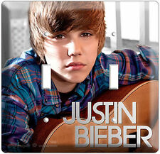 JUSTIN BIEBER DOUBLE LIGHT SWITCH CD COVER WALL PLATE N