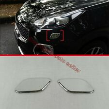 ABS Chrome Headlight Cleaning Device Cover Trim For KIA Sportage 2016 2017