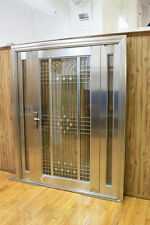 New Stainless Steel Entry Doors With Sidelights/ Open Inward