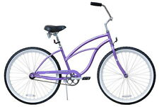 "NEW 24"" Women Beach Cruiser Bicycle Bike Firmstrong Urban purple"