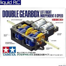 Tamiya USA TAM70168 Powered Double Gearbox L/R Independent 4-Speed Kit