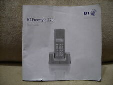 BT FREESTYLE 225 USER GUIDE / MANUAL